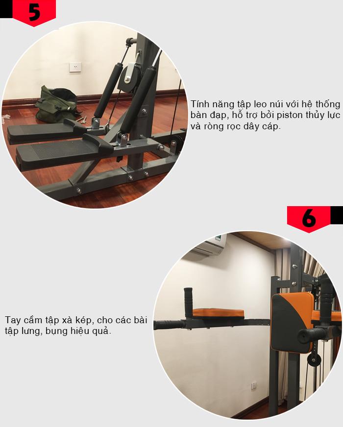 Giàn tạ đa năng Perfect Fitness ES 4131 chi tiết