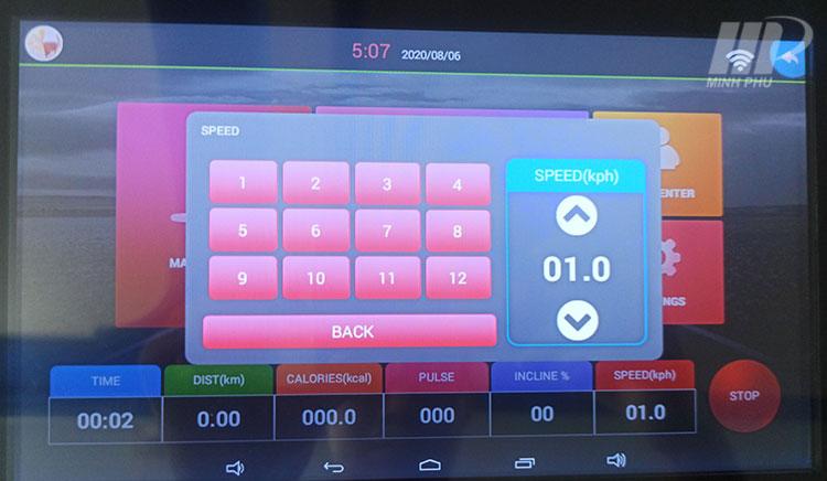màn hình Máy Chạy Bộ Điện Pro Fitness PF-115