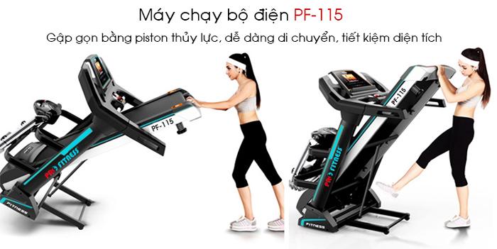 may chay bo dien Pro Fitness PF 115 gap gon