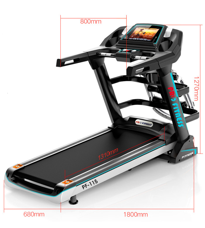 may chay bo dien Pro Fitness PF 115 kich thuoc