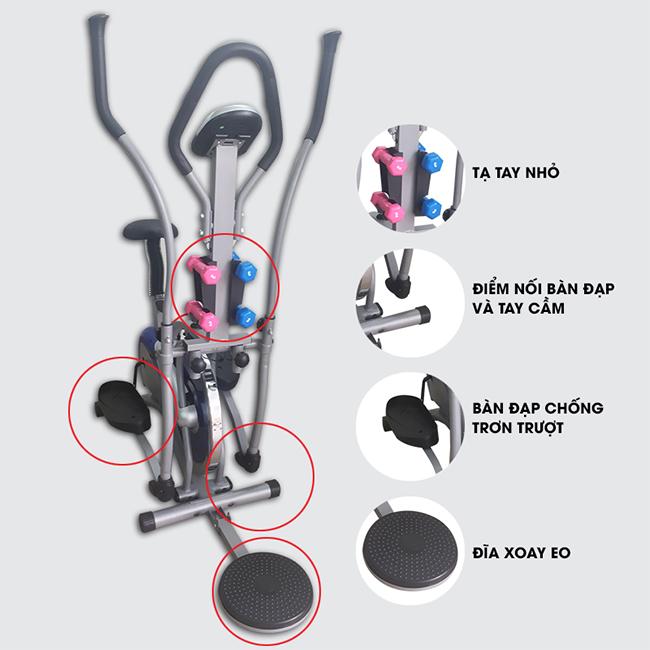 Xe đạp tập toàn thân K2085 _ cấu tạo