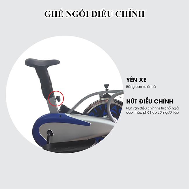 Xe đạp tập toàn thân K2085_Ghế ngồi