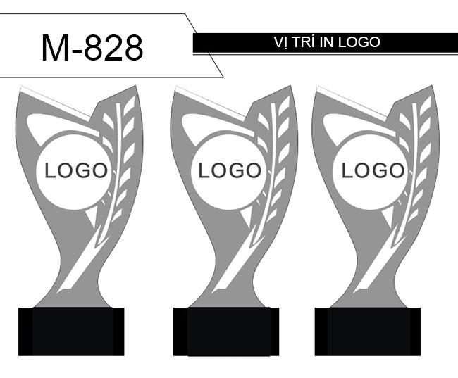 In logo kỉ niệm chương M-828