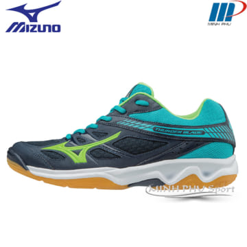 Giày bóng chuyền Mizuno-Thuder Blade xám xanh