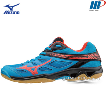 Giày bóng chuyền Mizuno Thunder Blade Xanh đen