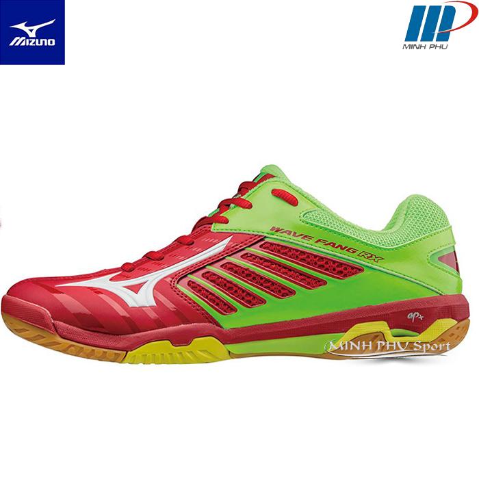 Giày cầu lông Wave Fang RX2 đỏ xanh