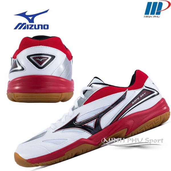 Giày cầu lông wave gate sky trắng đỏ