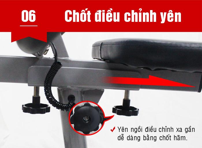 Xe đạp phục hồi chức năng BC-51013 chốt điều chỉnh yên
