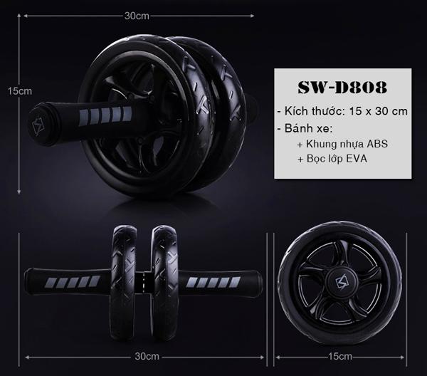 Con lăn tập cơ bụng SW-D808 kích thước