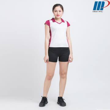 Bộ quần áo bóng chuyềnnữ ACB 5130 trắng-đỏ đô