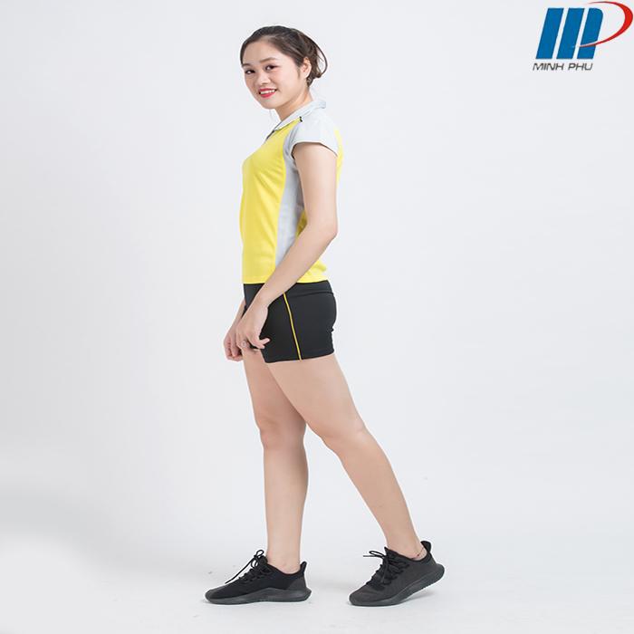 Bộ quần áo bóng chuyền nữ ACB 5130 vàng ghi