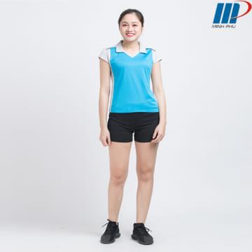 Bộ quần áo bóng chuyềnnữ ACB 5130 xanh coban-ghi