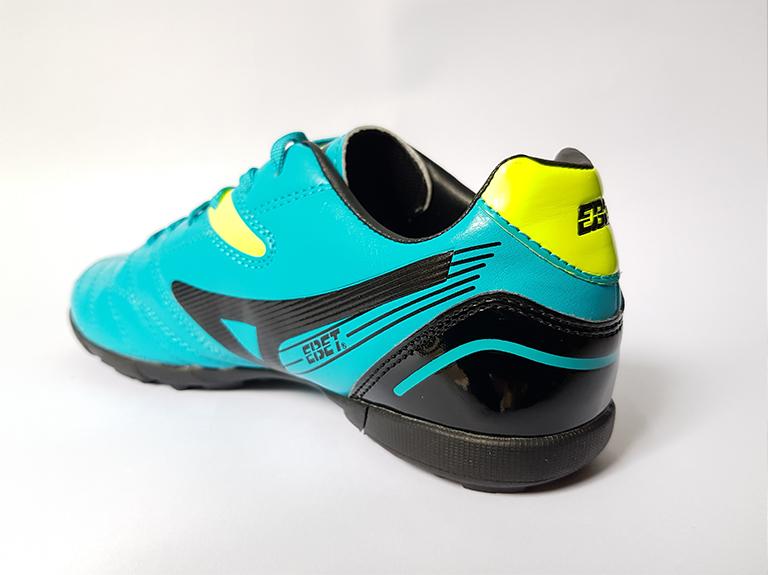 phần phía sau giày bóng đá ebet 16910 xanh vàng