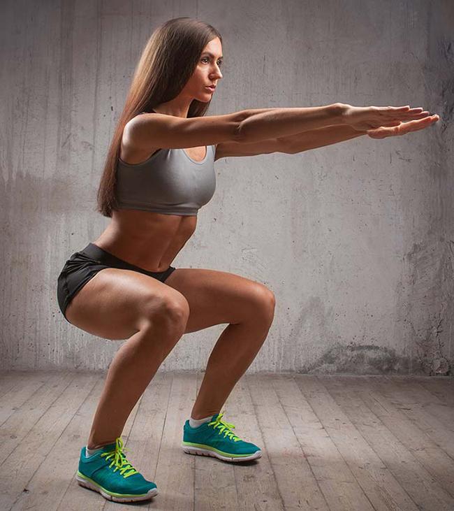 bài tập squat cho nữ