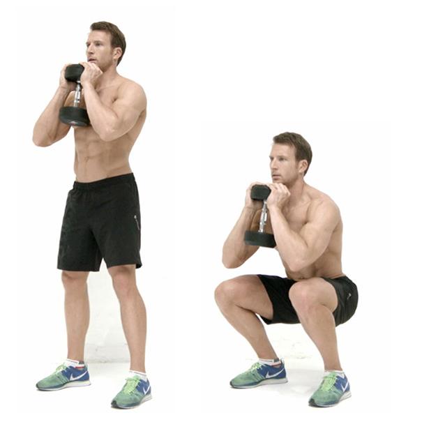 bài tập squat hiệu quả cho nam giới