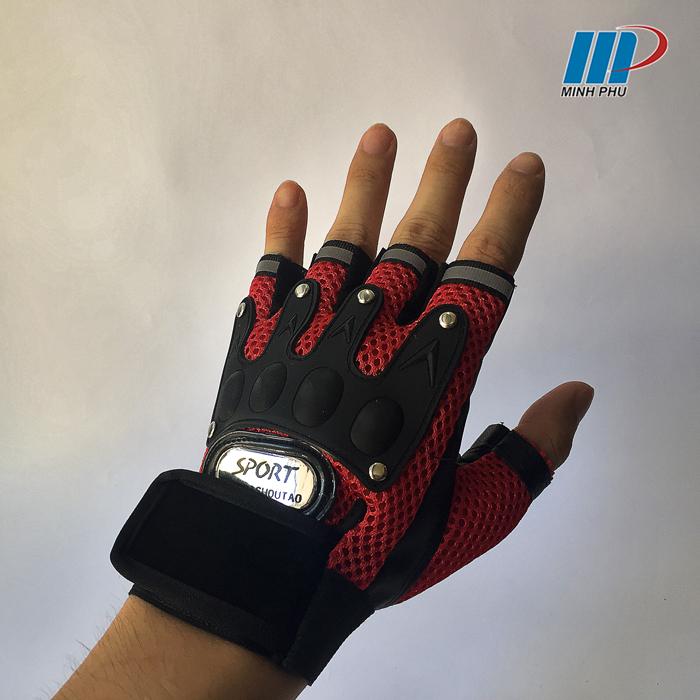 Găng tay thể thao sport 6BI đỏ