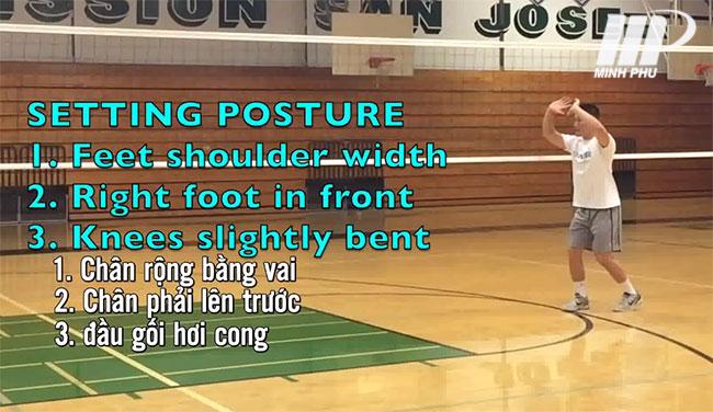 tư thế đón bóng khi búng bóng chuyền hơi