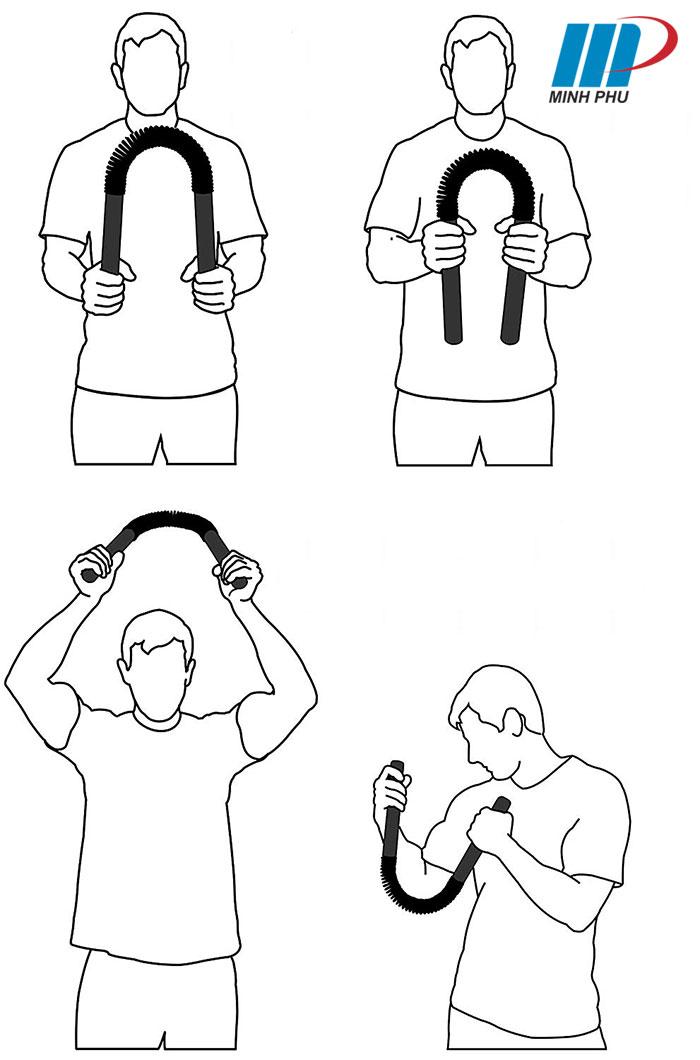 bài tập với Gậy bẻ tập cơ tay Power Twister