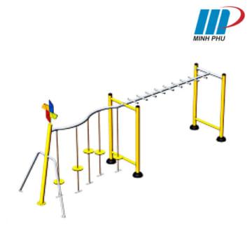 Khung vận động chuyền dây - thang ngang