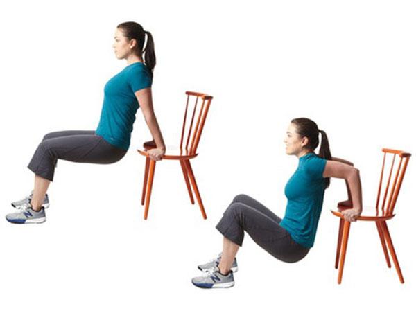 Tập nâng người với ghế