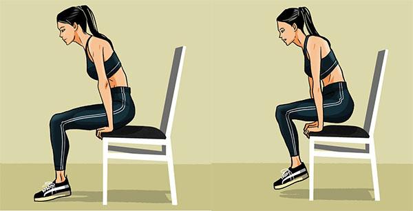 bài tập ngồi nâng người trên ghế