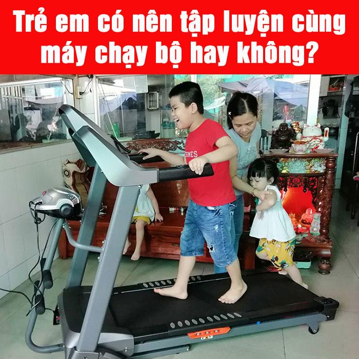 Trẻ em có nên tập luyện cùng máy chạy bộ hay không?