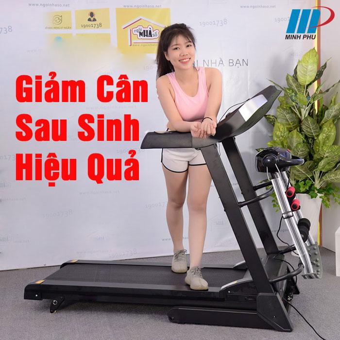 Giảm cân sau sinh với xe đạp thể dục và máy chạy bộ