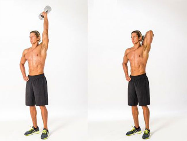 bài tập Single-Arm Dumbbell Overhead Extension