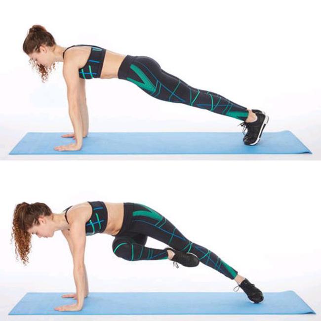 bài tập Plank Knee Twist